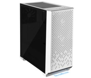 SilverStone Primera Serisi PM02W-G Tempered Glass 3xUSB 3.0, 1xUSB 3.1 Dört Fanlı Beyaz  Mavi Ledli ATX Kasa