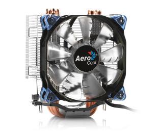 Aerocool Verkho5L Intel LGA 2011/1156/155/1151/1150/775/1366/2066 AMD FM2/FM1/AM4/AM3+/AM3/AM2+/AM2 12cm Mavi Ledli Fan İşlemci Soğutucu