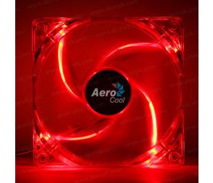 Aerocool 12cm PWM 4Pin Kırmızı Led Fan