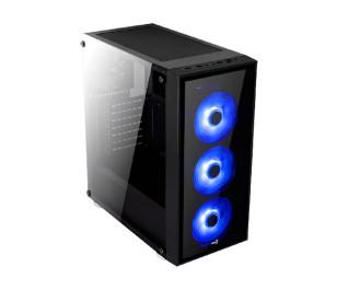 Aerocool Quartz Blue 750W 80+ Bronze USB 3.0 Mavi Led Fanlı ve Güçlendirilmiş Camlı Siyah ATX Oyuncu Kasası