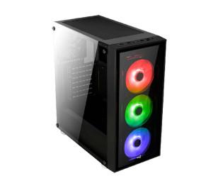 Aerocool Quartz 750W 80+ Gold USB 3.0 RGB Led Fanlı ve Güçlendirilmiş Camlı Siyah ATX Oyuncu Kasası