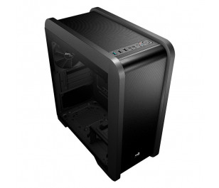 Aerocool QS240 500W 80+ Bronze Tempered Glass USB 3.0 Blue Led Fanlı Micro-ATX Kasa