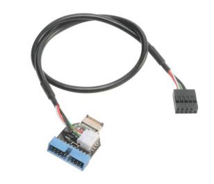 Akasa Internal USB 3.1 Gen2 to USB 3.1 Gen1 19Pin Dönüştürücü Kablo