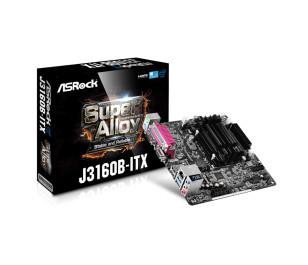 Asrock J3160B-ITX Intel J3160 Dahili İşlemcili, DDR3 1600MHz, Düşük Güç Tüketimli Mini-ITX Anakart (ASRJ3160B-ITX)