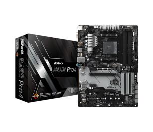 Asrock B450 Pro4 Socket AM4, DDR4 3200MHz+ (OC), Quad CrossFireX, Ultra M.2, USB 3.1 Gen1, HDMI, DP, VGA ATX Anakart
