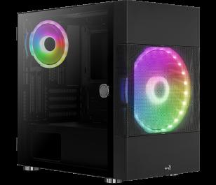 Aerocool Atomic 500W 80+ ARGB Adreslenebilir RGB Fanlı, Dik Ekran Kartı Takılabilen, Tempered Glass Yan Panelli, USB 3.0 Bilgisayar Kasası