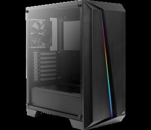 Aerocool Cylon Pro 600W 80+ RGB Tempered Glass USB 3.0 Siyah Kasa