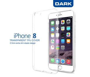 Dark iPhone 8 0,5mm Ultra İnce Şeffaf Kılıf