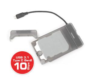 """Dark Storex E211 2.5"""" USB 3.1 (Gen2) Type-C  Çıkarılabilir Başlıklı Şeffaf SATAI/II/III SSD/SSHD/HDD Disk Kutusu"""