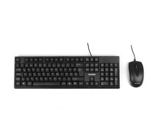 Dark Türkçe F Kablolu Ofis Klavye & Mouse Set