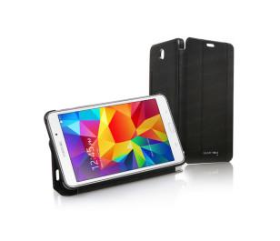 """Dark Samsung Galaxy TAB4 7"""" T230 Akıllı Deri Kılıf / Book Cover - Siyah"""