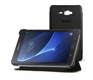 """Dark Samsung Galaxy TAB A 7"""" T280 Ön/Arka Kılıf - Siyah"""