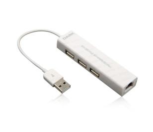 Dark Connect Master U23L Ethernet Girişli 3 Port USB 2.0 Hub