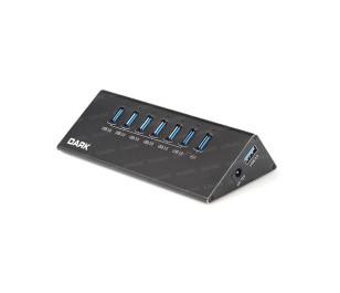 Dark Connect Master 6+1 Hızlı Şarj Adaptörlü USB3.0 Hub