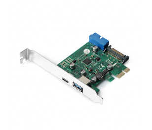 Dark USB 3.1 Gen1 Type-C + Type-A + 19pin USB3.0 PCI-E x1 Kart
