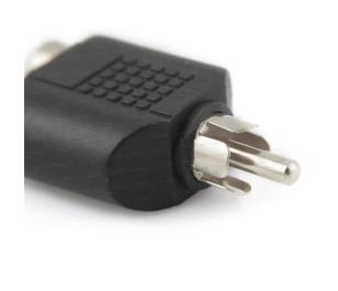 Dark RCA Erkek - 2 x RCA Dişi Dönüştürücü Adaptör