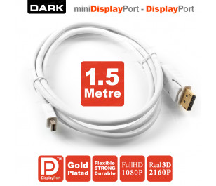 Dark 1.5 Metre Mini DisplayPort - Display Port Kablo