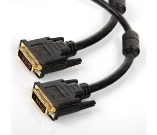 Dark 5m Ferrit Core EMI/RFI Filtreli 24+1pin DVI Kablo (Erkek/Erkek)