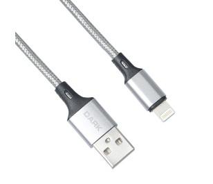 Dark Lightning Örgülü 'Quick Charge' Destekli Şarj ve Data Kablosu (1 Metre)