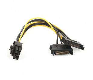 Dark 2x6Pin PCI-E - 6+2pin PCI-E Dönüştürücü Güç Kablosu