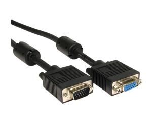 Dark 5m Ferrit Core EMI/RFI Filtreli VGA Uzatma Kablosu