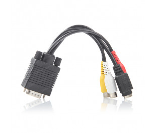 Dark VGA - S-Video ve 3.5mm Komposite Bağlantı Kablosu
