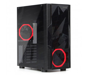 Dark Diamond 2x12cm Fan, 1x USB3.0, 2x USB2.0 Full Akrilik ATX Oyuncu Kasası
