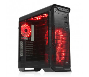 DARK N10 Advance USB 3.0, 5x12cm Fan, Fan Kontrolcülü, Temperli Yan Cam Panel, ATX  Kasa