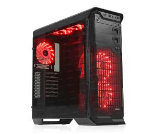 DARK N10 Advance 750W 80+ Br USB 3.0, 5x12cm Fan, Fan Kontrolcülü, Temperli Yan Cam Panel, ATX  Kasa