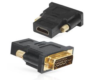 Dark HDMI to DVI-D Dönüştürücü (HDMI dişi - DVI-D erkek)