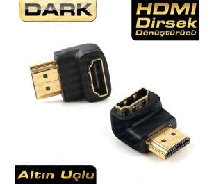 Dark HDMI 90° Dönüştürücü Dirsek - HDMI Erkek - HDMI Dişi