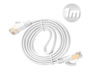 Dark 1m Cat7 BC AWG30 FTP Beyaz Slim Patch Network Kablosu