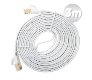 Dark 3m Cat7 BC AWG30 FTP Beyaz Slim Patch Network Kablosu