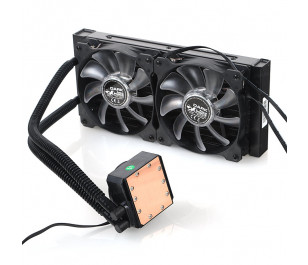 Dark AquaForce W240 Intel 775/1156/1155/1150/1151/2011/2066 AM2/AM2+/AM3/AM3+ Uyumlu Çift Fanlı 240mm Sıvı Soğutma Sistemi