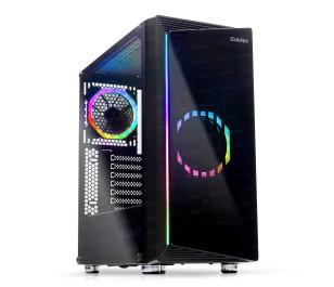 Dark COSMOS 600w 80+ Bronze 2x12cm Dual ARGB Fan USB3.0 T-Glass ATX Oyuncu Kasa ( Yeni )