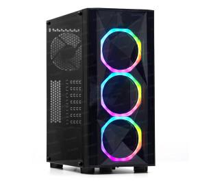Dark Diamond PRO X1 v3 4x12cm Fan, 1x USB3.0, 2x USB2.0 Full Akrilik Oyuncu Kasası ( Yeni )