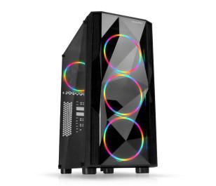 Dark Diamond PRO 500W 4x12cm Fan, 1x USB3.0, 2x USB2.0 Full Akrilik Oyuncu Kasası ( Yeni )
