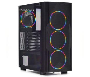 Dark Diamond PRO MESH 600W 4x12cm Fan, 1x USB3.0, 2x USB2.0 Full Akrilik Oyuncu Kasası ( Yeni )