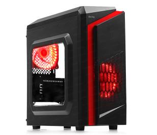 DARK F40 500W 80 Plus 2x Kırmızı LED Fan USB3.0 Pencereli M-ATX Kasa