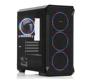 Dark Guardian Mini 500W 80+ Bronze 4x12cm Fixed RGB LED Fanlı, Full Cam Yan ve Mesh Ön Panel, USB 3.0 Bilgisayar Kasası