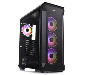Dark Guardian PRO 600W 80+ Bronze 4x12cm Adreslenebilir RGB LED Fanlı, Full Cam Yan ve Mesh Ön Panel, USB 3.0 Bilgisayar Kasası