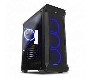 Dark GUARDIAN 750W 80+ BRONZE 4x12cm Dual RGB Fan USB3.0 T-Glass ATX Oyuncu Kasası ( Yeni )