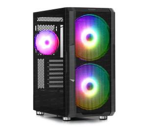 Dark MAXIMA V20, 650W 80+ 2x20cm, 1x12cm ARGB Fan, 2xUSB3.0, 1xType-C, RF Kontrollü Oyuncu Kasası