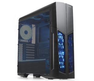 DARK Spartan USB 3.0, 5x12cm Fanlı, RGB LED ve Uzaktan Kumandalı, Full Akrilik  ATX Oyuncu Kasa