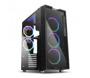 Dark UNREAL 600W 80+ Bronze 5x12cm Dual ARGB Fan USB3.0 T-Glass ATX Oyuncu Kasa ( Yeni )
