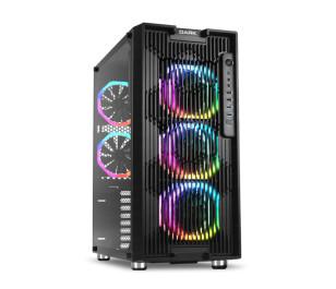 Dark UNREAL AIR 600W 80+ Bronze 5x12cm Dual Ring ARGB Fan USB3.0 T-Glass ATX Oyuncu Kasa ( Yeni )