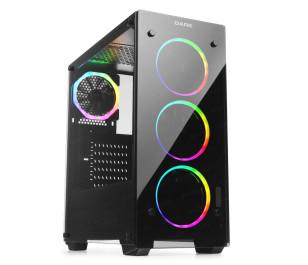 Dark VISION PRO 750W 80+ Bronze 4x12cm Dual ARGB Fan USB3.0 T-Glass ATX Oyuncu Kasa ( Yeni )