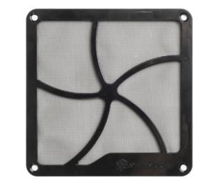 SilverStone 12cm Mıknatıslı Siyah Fan Filtresi