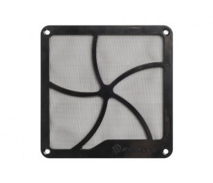 SilverStone 14cm Mıknatıslı Siyah Fan Filtresi