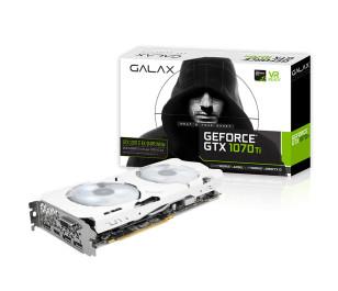 Galax GeForce GTX1070Ti EX Sniper White 8GB 256-Bit GDDR5 DL-DVI-D, HDMI 2.0b, DP1.4 PCI-E Ekran Kartı
